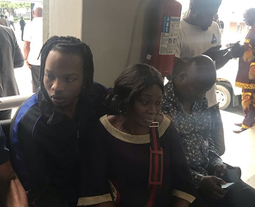 Naira Marley and mother