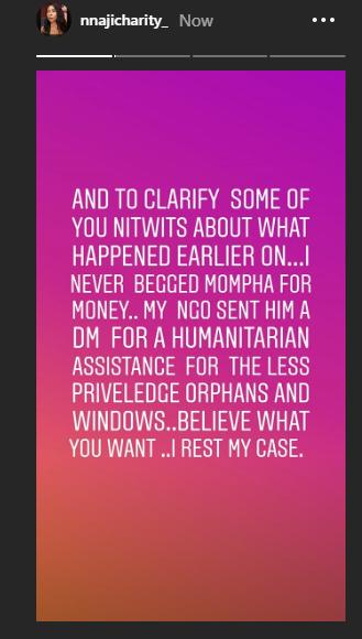 Charity Nnaji post