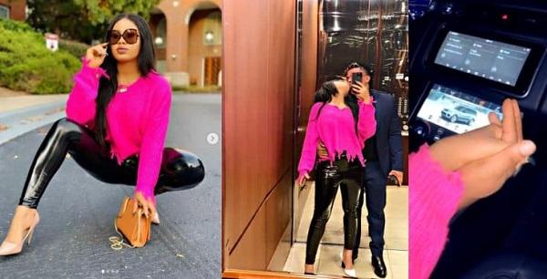 BBNaija star Nina Ivy shows off her man video1 - Nina Ivy, Boyfriend React To Queen Ireta Leaked Whatsapp Chat