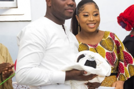 Benita Okojie, Newborn and Husband
