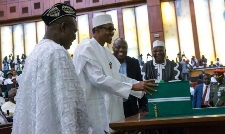 Buhari presenting 2018 budget, I Am Working Really Hard, Says Buhari As He Presents N10.72 Trillion For 2020 Budget