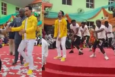 Pastor Odumejeje Dances To Peter Okoye's Song In Church (Video)