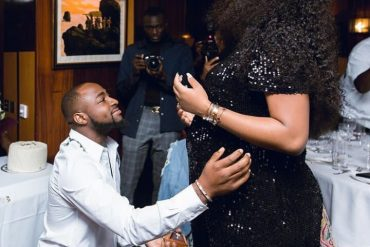 Davido Pops Bottle Of Champagne; Reveals Name Of His Son (Video)