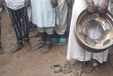 Chained inmates