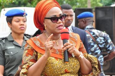 Outrage As Enugu First Lady, Monica Ugwuanyi Commissions Tippy Taps For School Pupils