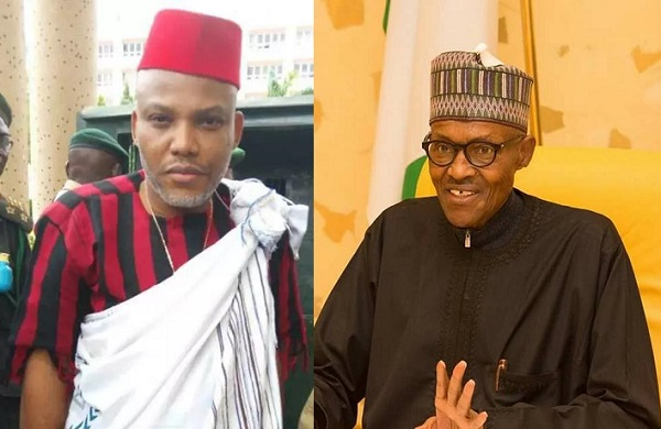 Nnamdi Kanu and President Buhari