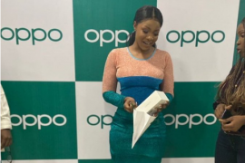 BBNaija: Oppo Mobile Gifts Tacha Andriod Phone