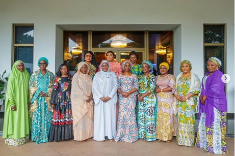 Aisha Buhari with governors wife, vicepresident wife and so on