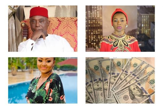 Dollar Rains As Ned Nwoko Thanks Jaruma For Attending Wife's Birthday