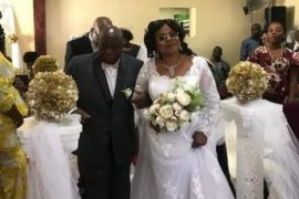 Titi Laoye-Tomori and husband, Michael Ponle