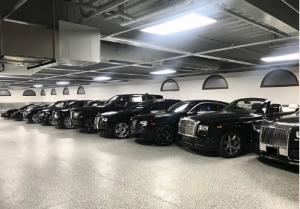 May Weather's garage