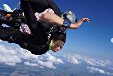 Former BBNaija Housemate, Nina, Shares Photos From Her Sky Diving Experience