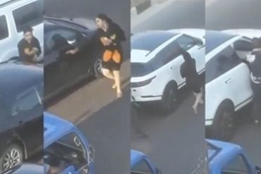 Man Beats Up Bobrisky After Bashing Her Range Rover In Lagos (Video)