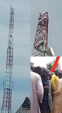 u - Man Climbs Mast, Vows To Remain There Until Buhari Resigns