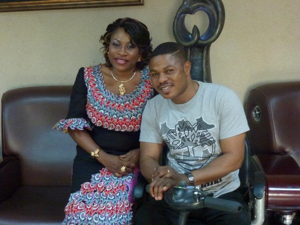 Yinka Ayefele and his wife