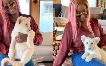 DJ Cuppy Flaunts Her 'Beautiful' Lion On Instagram (Photos)