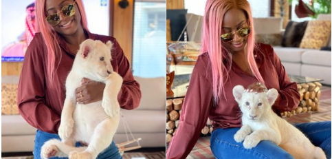 Dj Cuppy and her Lon