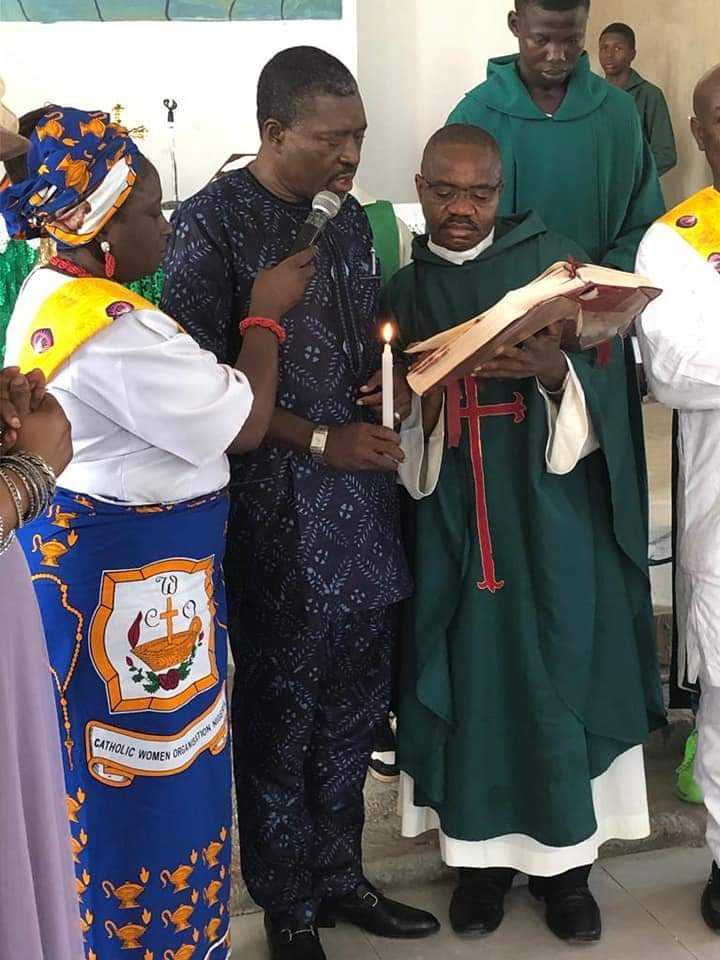 Kanayo baptised in church