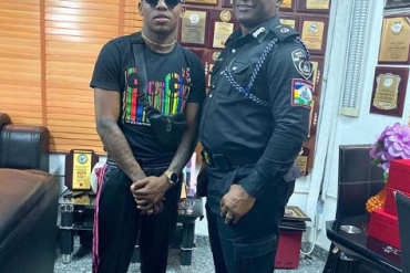 Singer, Small Doctor Visits RSS Commander In Lagos (Photos)