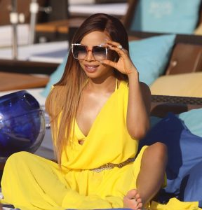 Toke Makinwa takes over Ibiza in yellow 5 288x300 - If Valentine's Day Is Not Everyday With You And Your Lover, Find Another Lover – Toke Makinwa