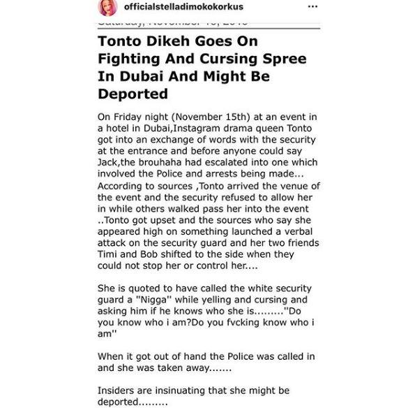 Tonto 2 - Police Arrest Tonto Dikeh In Dubai, Might Be Deported