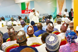 Buhari at the NEC Meeting