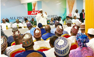 Buhari at the NEC Meeting