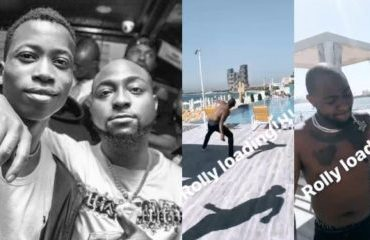 Davido Throws Lil Frosh's Fake Rolex Into The Sea (VIDEO)