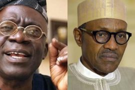 File photo of Falana and Buhari