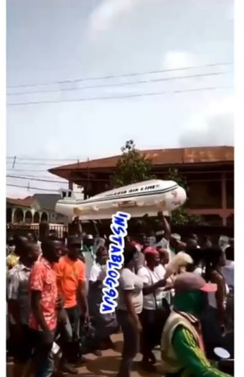 Lady Buried In Airplane Casket
