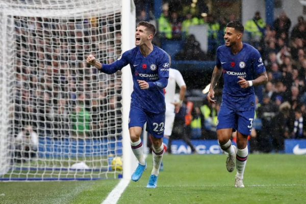 Pulisic Scores Two As Chelsea Flogs Crystal Palace