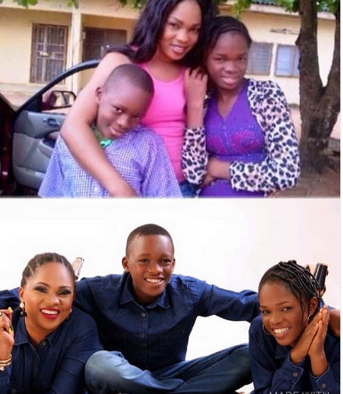 Actress Regina Chukwu and children