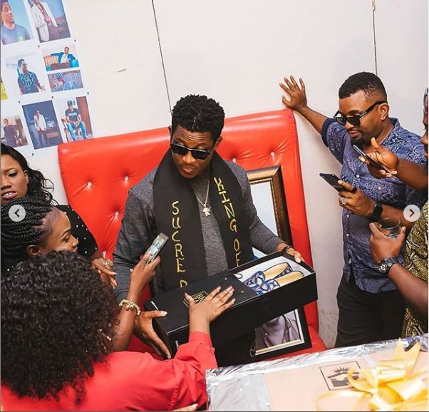 seyi 2 - BBNaija's Seyi Awolowo Receives Gifts From Fans To Celebrate Birthday (Photo)