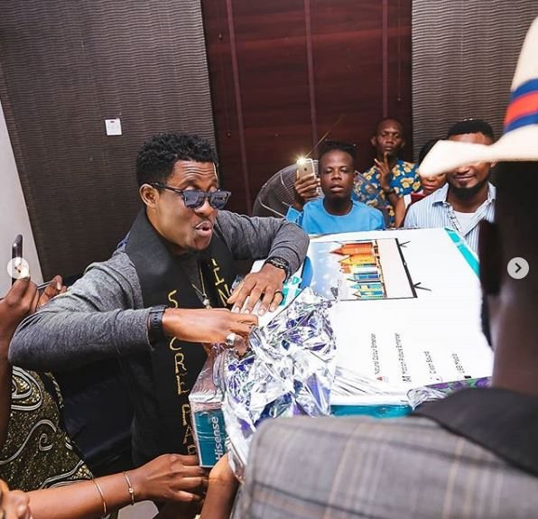 seyi 3 - BBNaija's Seyi Awolowo Receives Gifts From Fans To Celebrate Birthday (Photo)