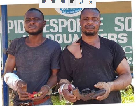 The robbery suspects