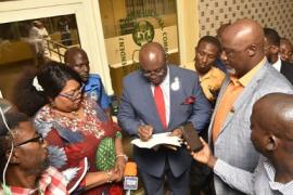 Dino Melaye Aand INEC officials