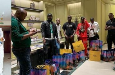 Zlatan Excited As Davido Takes Him, Crew On A Shopping Spree