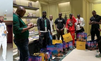 Zlatan Ibile, Davido and crew members