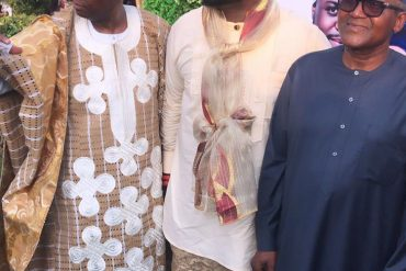 Dangote Attends Adewale Adeleke, Kani's Wedding In Calabar (Photos)