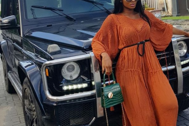 Popular Comedienne, Wofaifada Acquires Brand New G-Wagon (Photos)