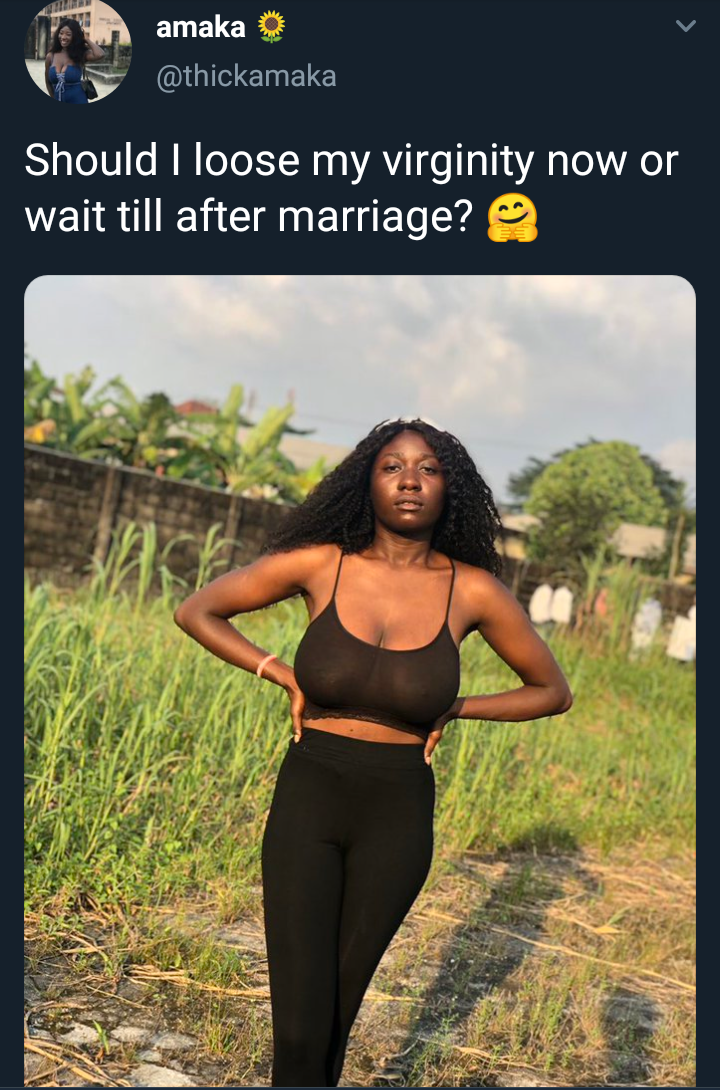 5dedf9f6c7b2e - Should I Lose My Virginity Now Or Wait Till After Marriage – Twitter User Asks
