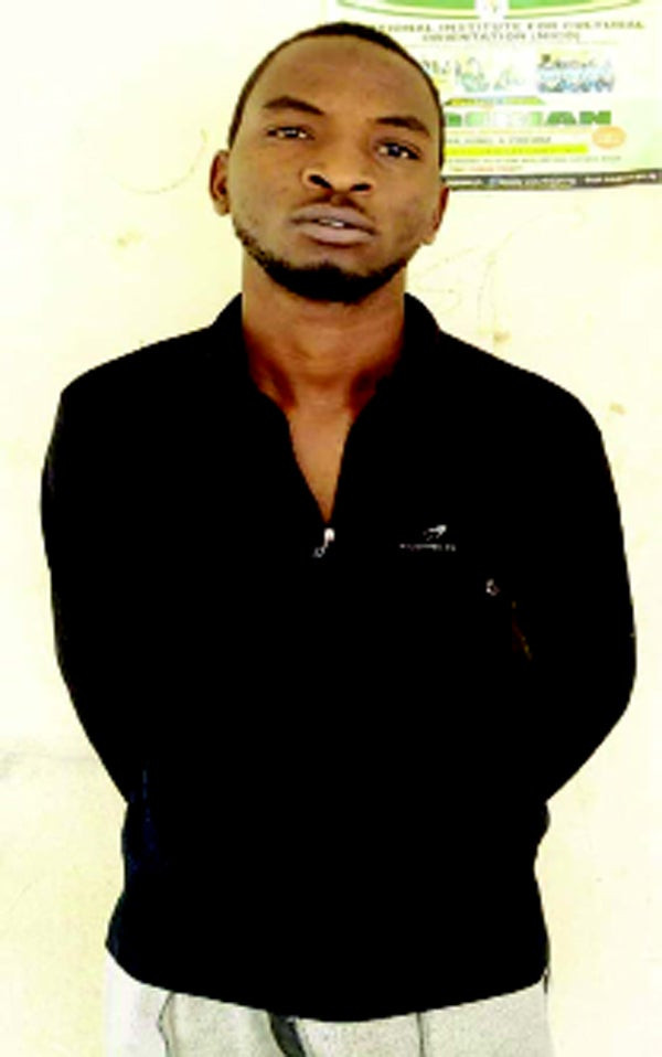 The suspect, Ibrahim Kazeem