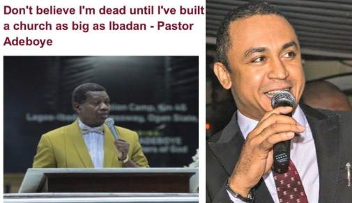 Daddy Freeze, Pastor Adeboye