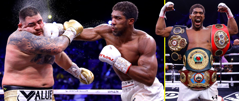 Anthony joshua defeats Ruiz