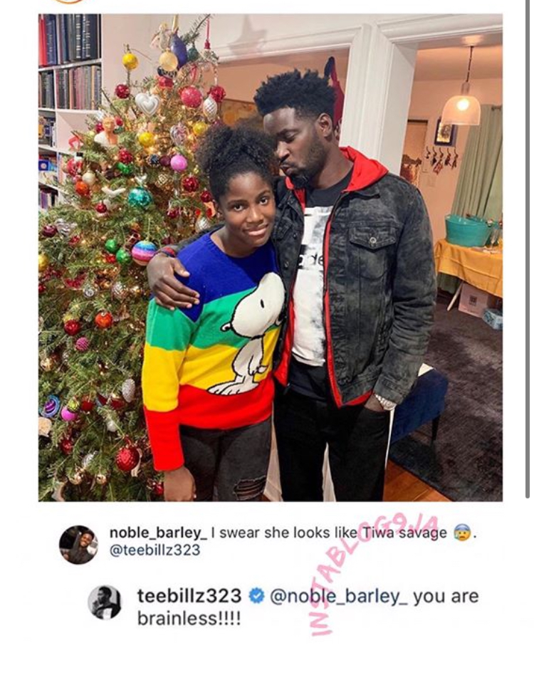 C1AC76D3 36AD 4A05 B779 BFC9F3F54007 - Teebillz Attacks Troll Who Says His Daughter Looks Like Tiwa Savage