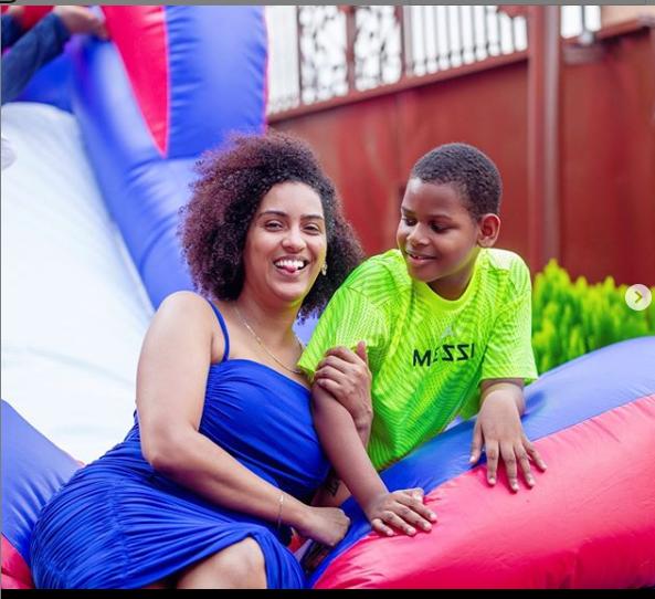 Juliet Ibrahim and son Jayden