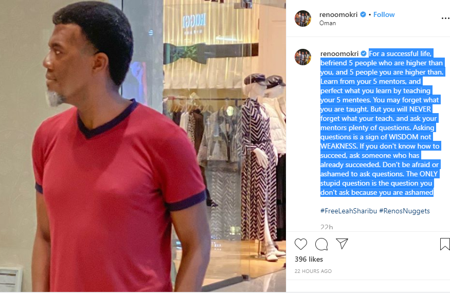 Capture 524 - To Be Successful In Life, Associate With 5 People Higher Than You – Omokri