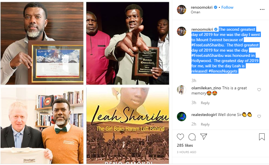 Capture 543 - Reno Omokri Shares His Greatest Moments In 2019