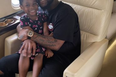 Davido Shares Adorable New Photo With Imade In A Private Jet