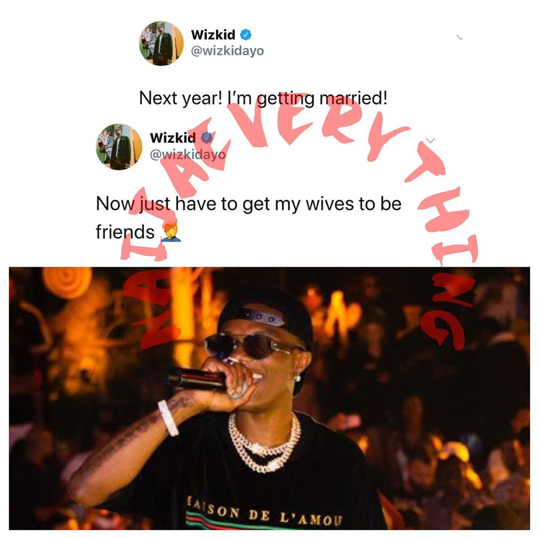 Naijaeverything Entertainment on Instagram   For sJPG - Wizkid Is Getting Married